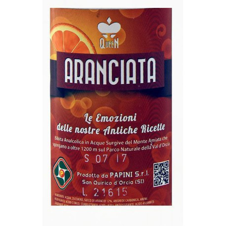 POST-MIX SPUMA ARANCIATA  LT 9 FUSTO